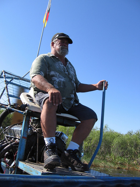 Our swamp buggy driver