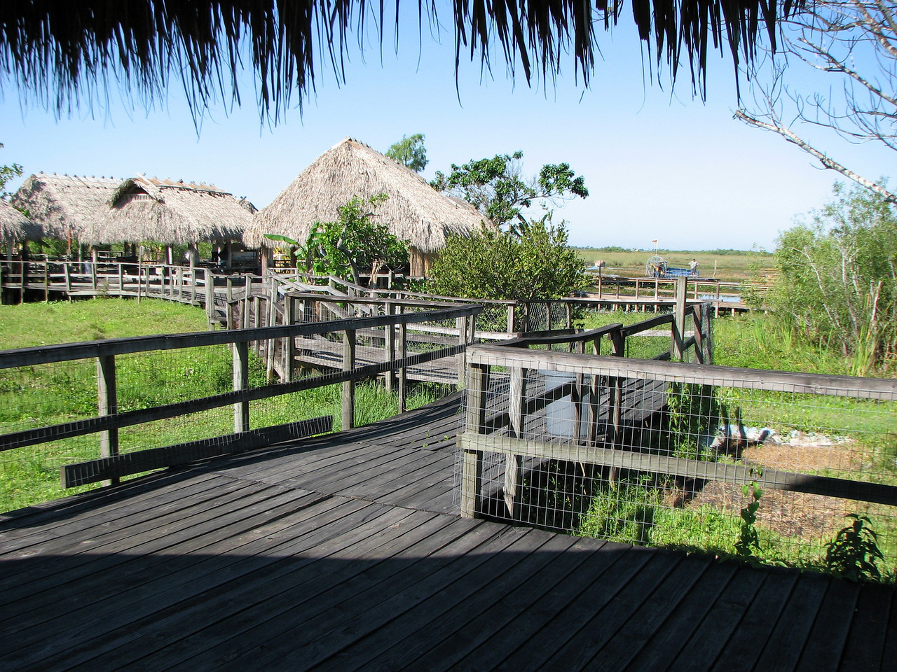 The boardwalk at the village