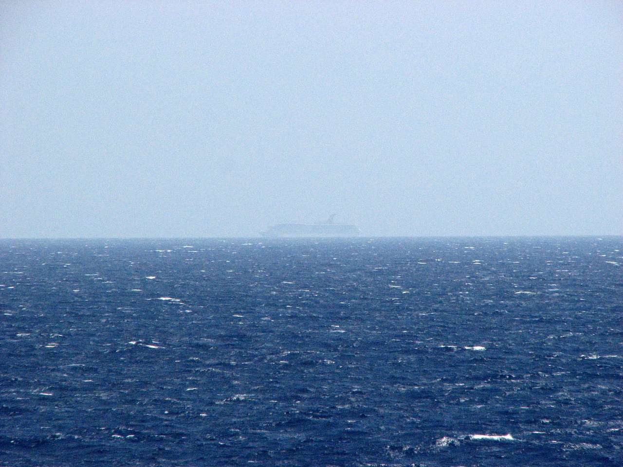 A ship in the distance
