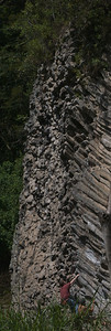 Quetzel Road. Panama September, 2103  Slow cooling lava created these incredible walls, the rock climbers love it.