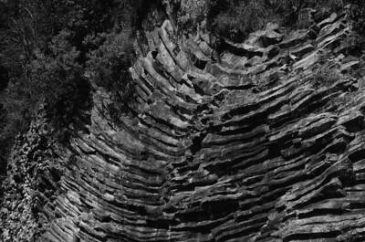 Quetzel Road. Panama September, 2103  slow cooled lava rock wall.