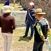 Our guide with Pam and Pam Botts in the Saqsaywaman site.