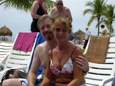 Bob Buckland and traveling companion, Eileen Beer, poolside in Panama.  Is Oprah right?  Our 50's are the best?