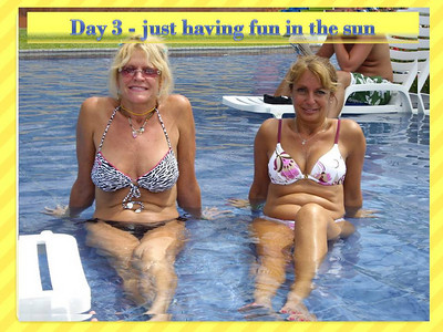Two Southern California hotties, Lynn LePre and  Eileen Beer, show how to relax.