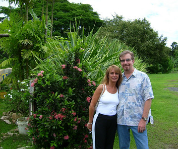 First photo in Panama (of many )  of Bob Buckland and traverling companion Eileen Beer, in Panama.