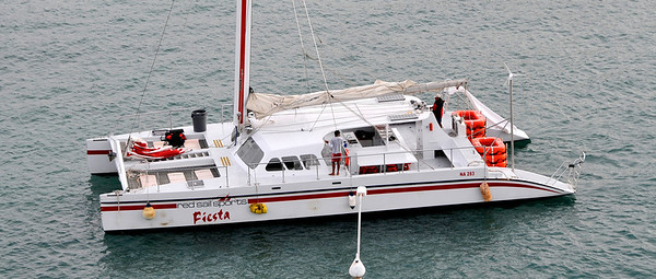 Some of our shipmates went out on this vessel to tour around the other side of the island.