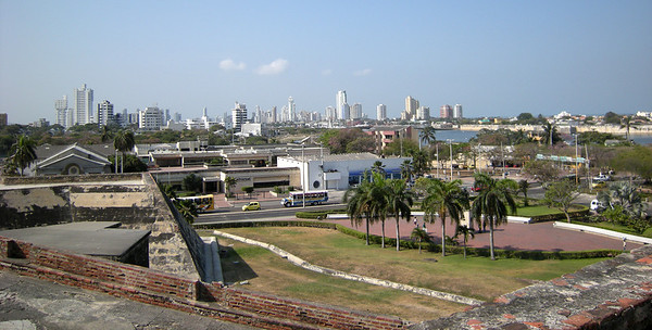 View of the harbor from the fort.