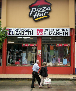 We didn't go in, but I think this was a combination dress shop and Pizza Hut.   Maybe the pizza was upstairs.