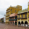 Day 4: Cartagena, Colombia - the square behind the clock tower.