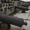 Day 4: Cartagena, Colombia - a row of cannons on the city wall.