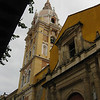 Day 4: Cartagena, Colombia - the bell tower at the cathedral.