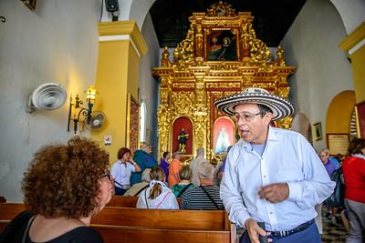 Candelaria convent.  Our tour guide, Duran Duran.
