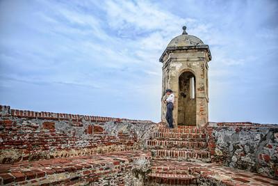 San Felipe de Barajas Fort guard.