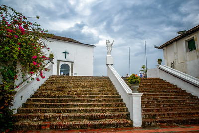 Candelaria convent located on the top of the Popa hill