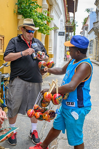 One of the vendors selling maracas.