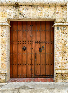 One of many beautiful doors.   Knockers are wonderful!!