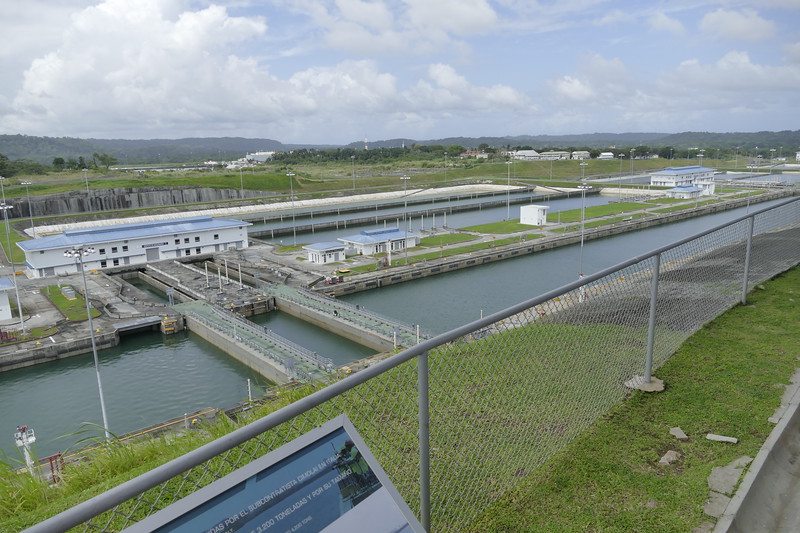 Aqua Clara Lock. the new lock 1.5 times as wide as the Gatum Lock for larger Panamax ships. https://en.wikipedia.org/wiki/Panama_Canal_expansion_project