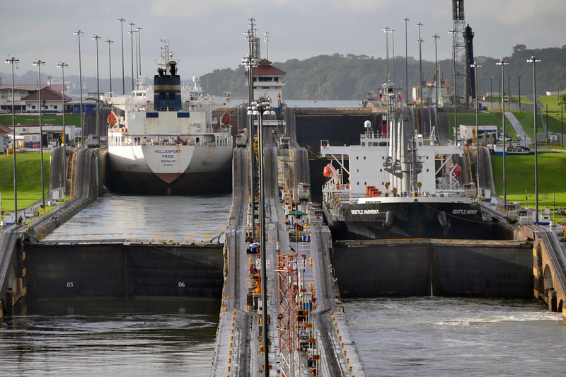 The ships completely fill the width of the locks. It is nothing to sneeze about. You might even say Gatun tight.