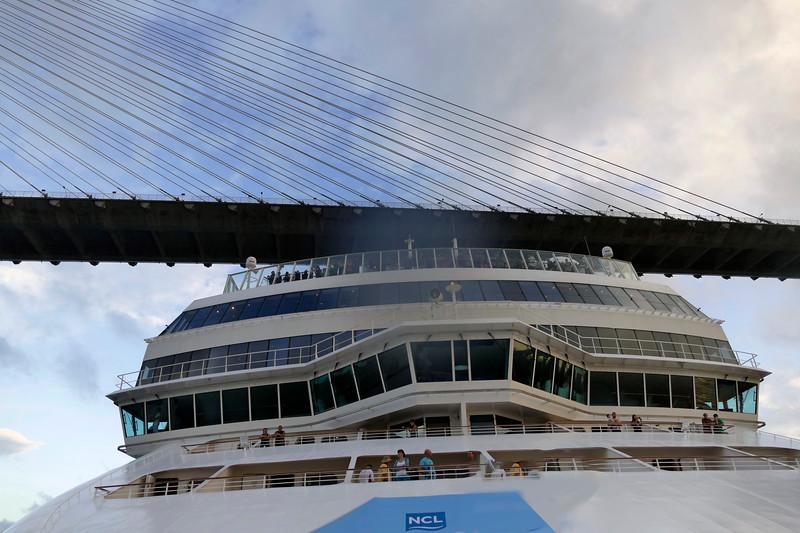Atlantic and Norwegian Pearl bridges. ;-)