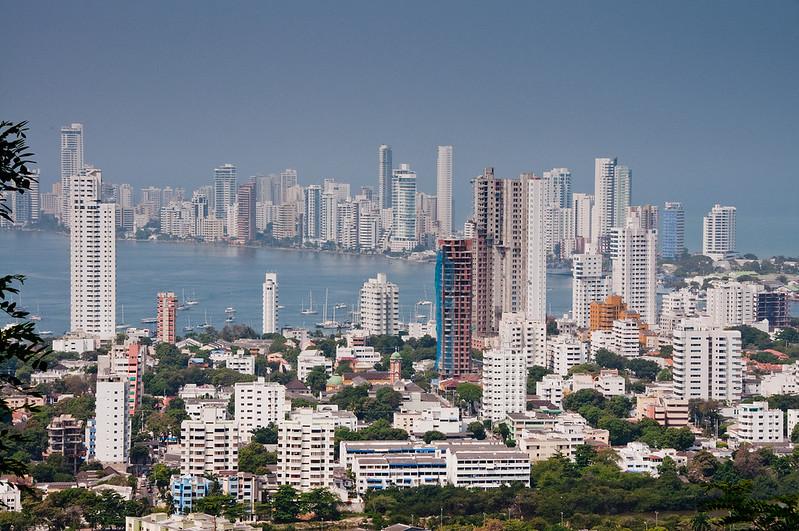 • Cartagena, Colombia<br /> • Skyline view from the Convento de la Popa Monastery