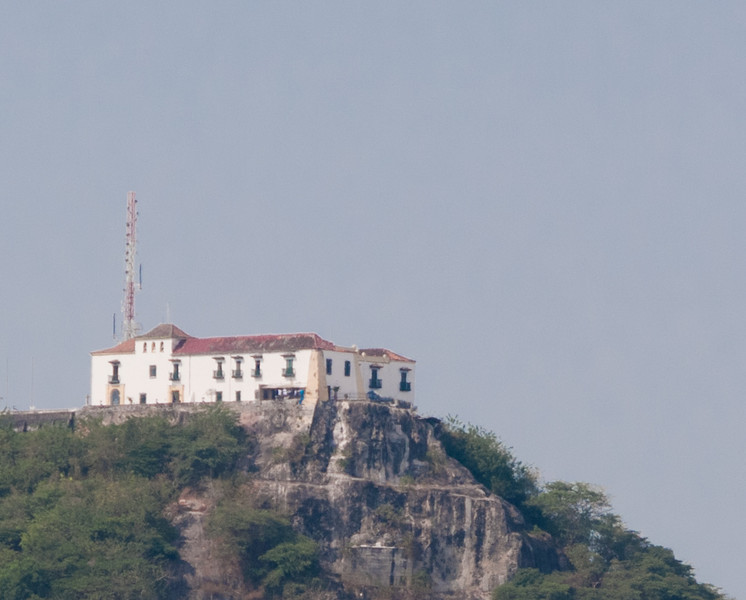 • Cartagena, Colombia<br /> • View from the Coral Princess of Convento de la Popa Monastery as we leave port