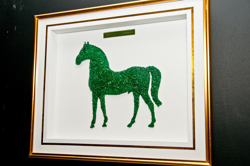 • Cartagena, Colombia<br /> • Picture of a horse made out of emeralds