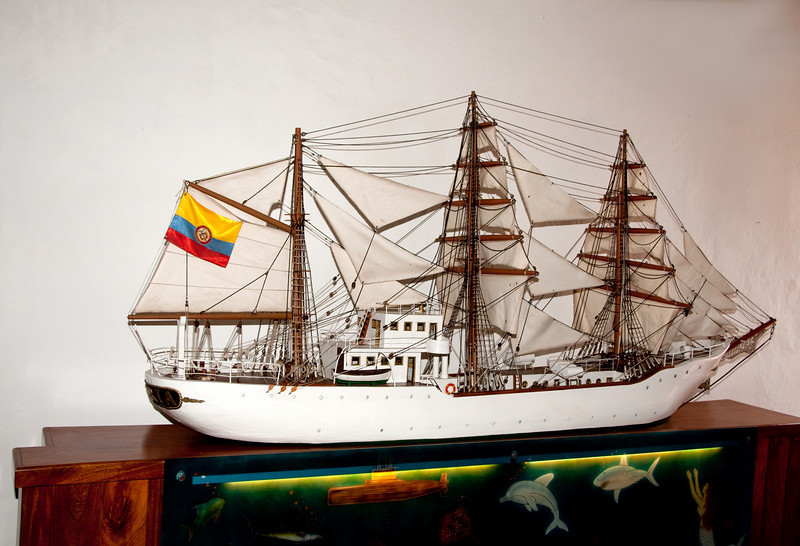 • Cartagena, Colombia<br /> • A model of a Spanish galleon at the Navy Museum