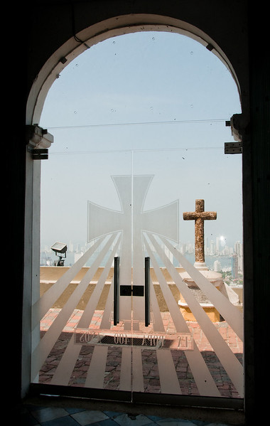 • Cartagena, Colombia<br /> • Looking out of the back door of the church
