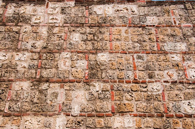 • Cartagena, Colombia<br /> • Close up of Castillo San Felipe de Barajas Fortress wall