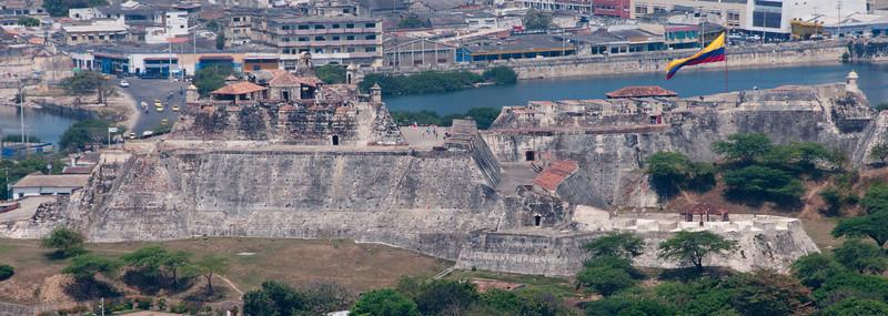 • Cartagena, Colombia<br /> • Skyline view of Castillo San Felipe de Barajas from the La Popa Monastery