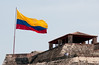 • Cartagena, Colombia<br /> • The Flag of Colombia at Castillo San Felipe de Barajas Fortress