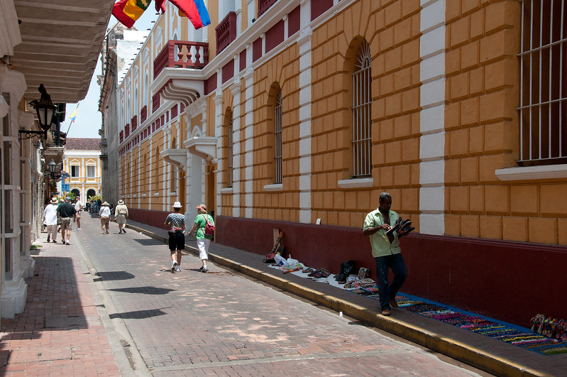• Cartagena, Colombia<br /> • View from walking around the historic old town
