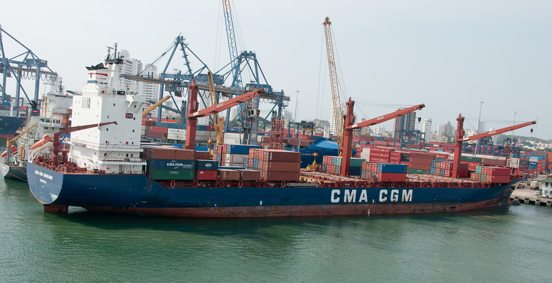 • Cartagena, Colombia<br /> • Container Ship being loaded