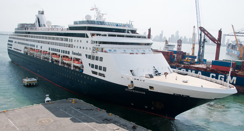 • Cartagena, Colombia<br /> • Holland America Statendam docked across from the Coral Princess
