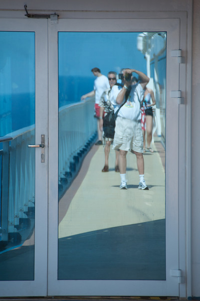 • Coral Princess<br /> • My reflection in one of the doorway entrances