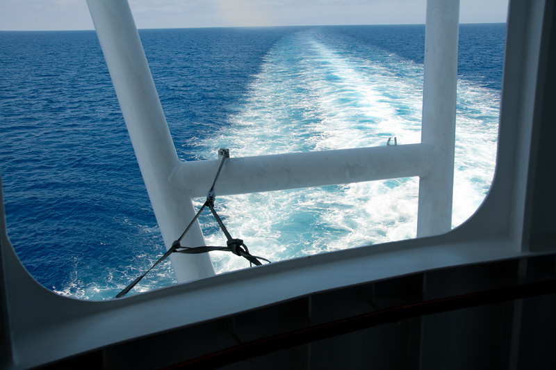 • Coral Princess<br /> • Looking out aft from deck 7