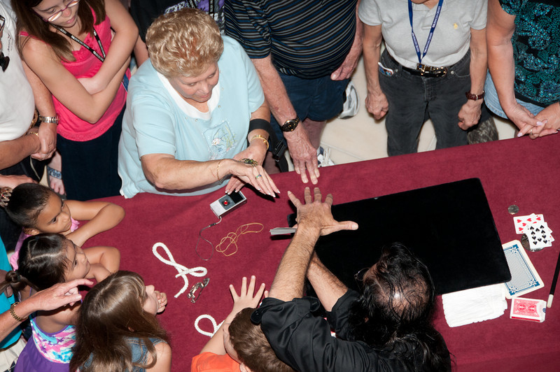 • Coral Princess <br /> • The Up-Close Gaetano Magic Show that was in the Ship's Atrium.  That was a surprise when the spider landed on Sandy's hand.