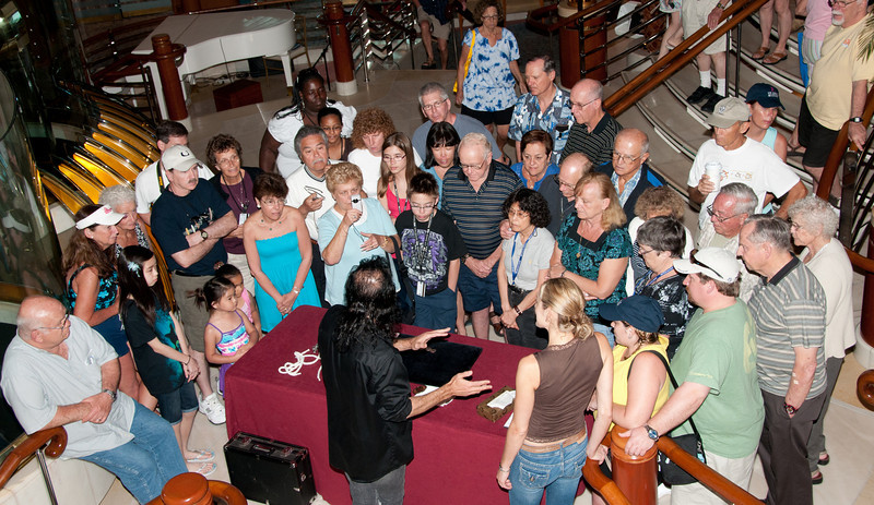 • Coral Princess <br /> • The Up-Close Gaetano Magic Show that was in the Ship's Atrium