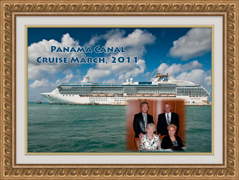 Our friends Walter and Gertrude Engels join us on Panama Canal Cruise on Coral Princess.