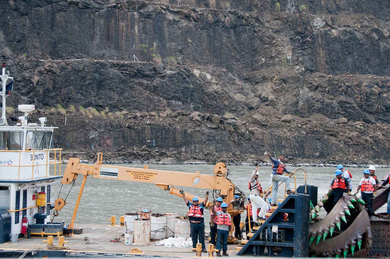• Panama Canal<br /> • Close up of one of canal dredging operations