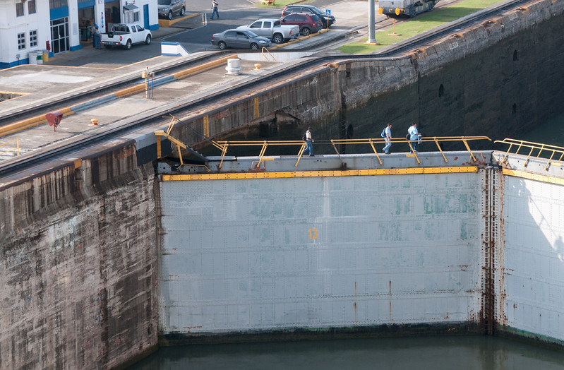 • Panama Canal<br /> • Some of the locals on the way to work.