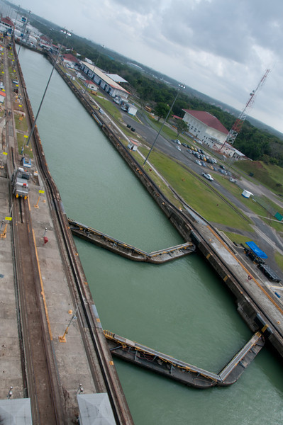 • Panama Canal<br /> • They have 2 gates per lock.  The first one is used as safety gate in case a ship loses power.  It will prevent it from crashing through the gate and emptying all the water out that lock.