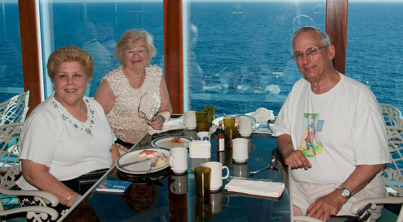 * Coral Princess<br /> * Sandy, Gertrude, and Arnold at Horizon Court Buffet breakfast