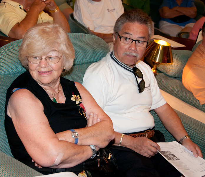 * Coral Princess<br /> * Gertrude and Walter getting ready for the Culinary Experience show