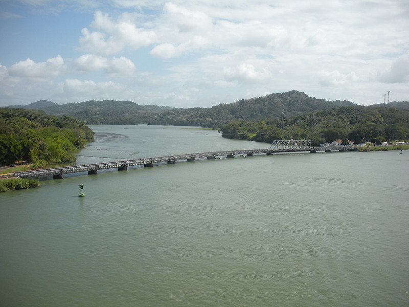 Chagres River entering the Canal