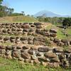 Izapa ruins with Takana volcano