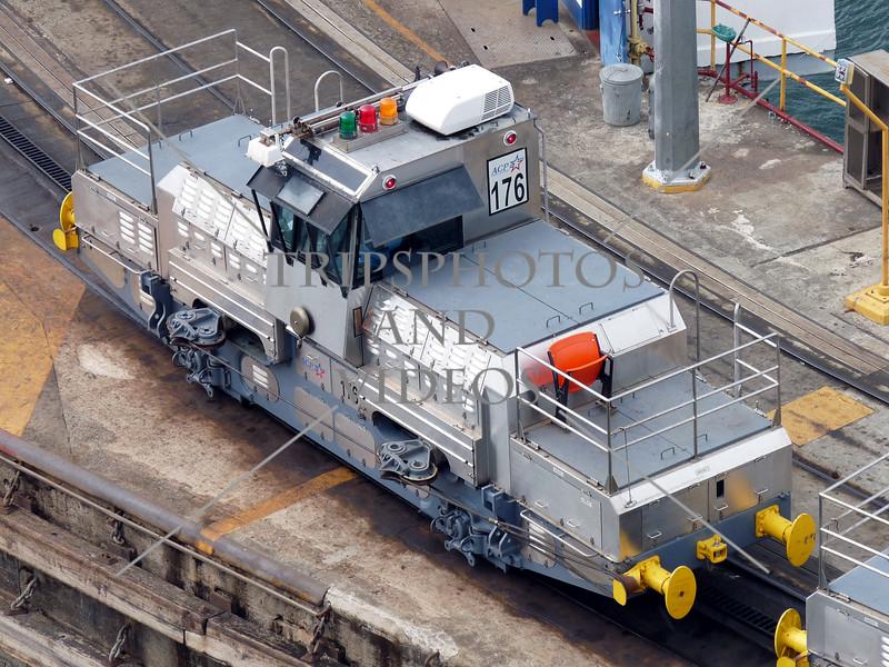 Panama Canal locomotive.