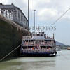 Tour boat crossing Panama Canal.