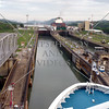 Cruise ship transits the Panama Canal.