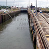 Panama Canal transit lane and lock chamber.
